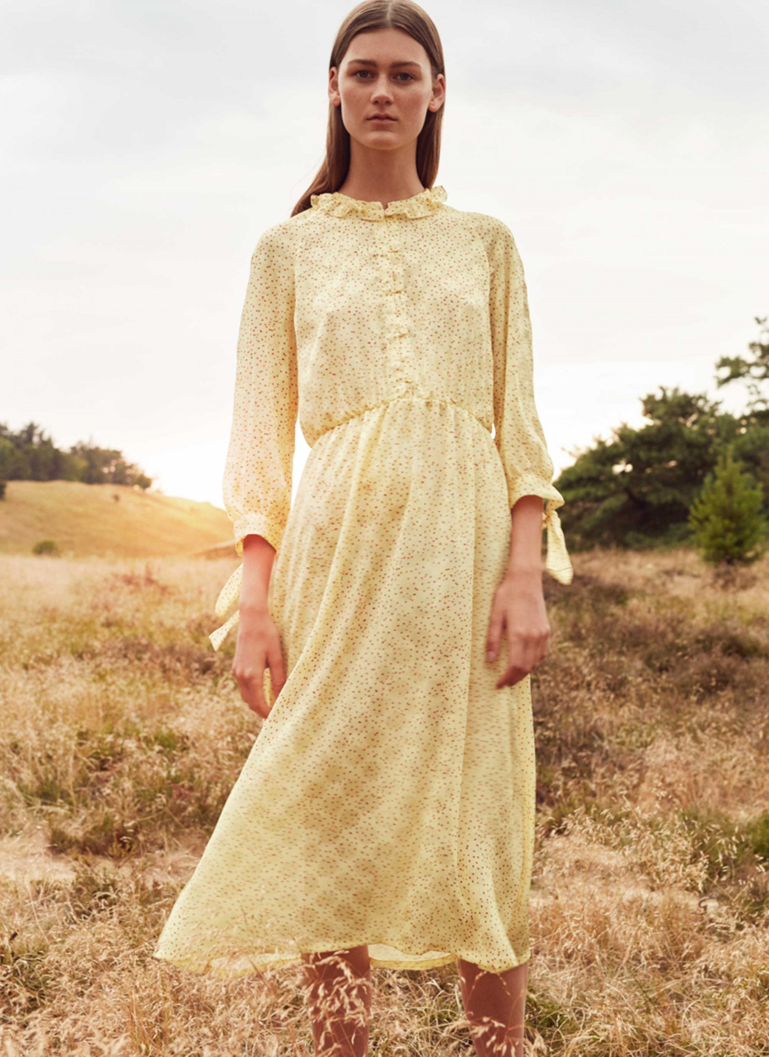 2bec11e6 Francis Dress Yellow Print