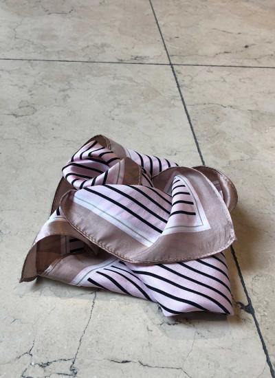 Amalie Mint/White stripe skirt